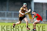Pádraig Boyle Kerry in action against Corey Scannell Mayo in the 2019 Hurling League Division 2a Round 3 at Austin Stack Park in Tralee, on Sunday.