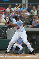 Myrtle Beach Pelicans outfielder Jeremy Williams #16 at bat during a game against the Winston-Salem Dash at Ticketreturn.com Field at Pelicans Park on July 11, 2012 in Myrtle Beach, South Carolina. Myrtle Beach defeated Winston-Salem by the score of 7-1. (Robert Gurganus/Four Seam Images)
