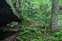 Memorial Falls at the Twin Falls nature preserve in Munising Michigan in the Upper Peninsula.