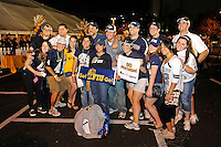 20 December 2011:  FIU fans pose for a picture during the big tailgating party prior to the game.  The Marshall University Thundering Herd defeated the FIU Golden Panthers, 20-10, to win the Beef 'O'Brady's St. Petersburg Bowl at Tropicana Field in St. Petersburg, Florida.
