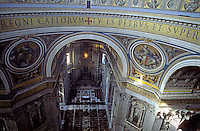 Balcony inside the dome of Saint Peter's Basilica, Vatican City, Rome, Italy.