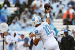 26 September 2015: UNC's Mitch Trubisky. The University of North Carolina Tar Heels hosted the University of Delaware Blue Hens at Kenan Memorial Stadium in Chapel Hill, North Carolina in a 2015 NCAA Division I College Football game. UNC won the game 41-14.