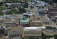 aerial view above Cleveland Clinic hospital