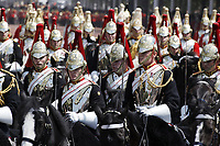 Guardsmen<br /> Trooping the Colour, at Buckingham Palace, London, England, UK  June 09, 2018.<br /> CAP/GOL<br /> &copy;GOL/Capital Pictures