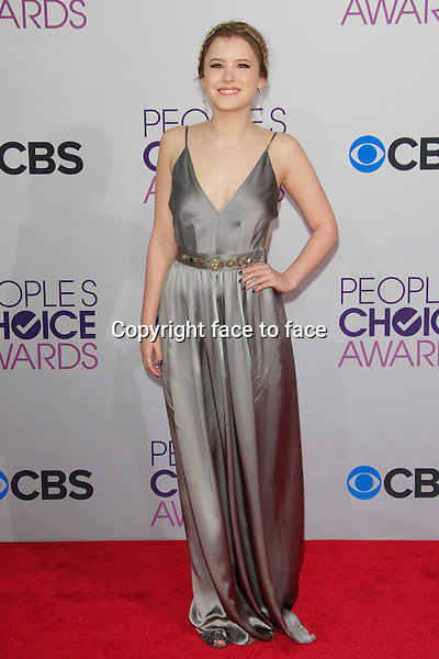 Taylor Spreitler attending the 34th Annual People's Choice Awards at the Nokia Theatre in Los Angeles, California, January 9, 2013...Credit: Martin Smith/face to face