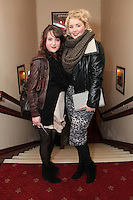 "NO REPRO FEE. 17/1/2010. The Field opening night. Jill Hardy and Rebecca Grimes are pictured at the Olympia Theatre for the opening night of John B Keanes 'The Field"" Picture James Horan/Collins"