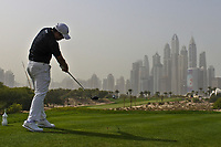 Beyond Hun An (KOR) on the 8th tee during Round 1 of the Omega Dubai Desert Classic, Emirates Golf Club, Dubai,  United Arab Emirates. 24/01/2019<br /> Picture: Golffile | Thos Caffrey<br /> <br /> <br /> All photo usage must carry mandatory copyright credit (&copy; Golffile | Thos Caffrey)