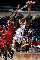 SAN ANTONIO, TX - NOVEMBER 14, 2013: The Lamar University Cardinals versus the University of Texas at San Antonio Roadrunners Women's Basketball at the UTSA Convocation Center. (Photo by Jeff Huehn)