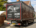 Lacons brewery beer delivery lorry in town centre of Woodbridge, Suffolk, England, UK