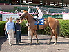 Delightful Liz winning at Delaware Park racetrack on 7/7/14