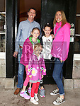 Brian, Elaina, Sophie, Mia and Lara Duffner at a tour of Slane Castle as part of Heritage Week.