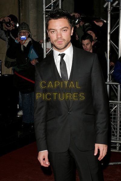 DOMINIC COOPER.The Orange British Academy Film Awards 2009 Soho House Grey Goose After Party at the Grosvenor House Hotel, London, England..February 8th, 2009.bafta baftas half length black suit jacket stubble facial hair .CAP/AH.©Adam Houghton/Capital Pictures.