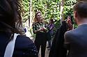 Martina Mondadori Sartogo, founder of Italian design magazine Cabana, guides a little audience to The Last Supper, the masterprice by Leonardo da Vinci at church of Santa Maria delle Grazie in Milan on April 6, 2017. During Milan Design Week 2017, Airbnb together with Cabana, has taken over the Casa degli Atellani for an event called &lsquo;Passeggiata - an Airbnb experience of Milan&rsquo; and Mondadori Sartogo acts as cicerone in the short tour of the venues linked to the Cenacolo Vinciano.<br /> <br /> Martina Mondadori Sartogo, fondatrice della rivista di design Cabana, illustra l'Ultima cena di Leonardo da Vinci ad un piccolo gruppo di persone nella sala del Cenacolo della chiesa di Santa Maria delle Grazie a Milano il 6 aprile 2017. Durante la Settimana del design 2017, Airbnb insieme a Cabana, usano la Casa degli Atellani, una casa del XV secolo che ospit&ograve; Leonardo, per un evento intitolato Passeggiata: an Airbnb experience of Milan dove Martina Mondadori fa da Cicerone in un piccolo tour dei luoghi legati al Cenacolo Vinciano.