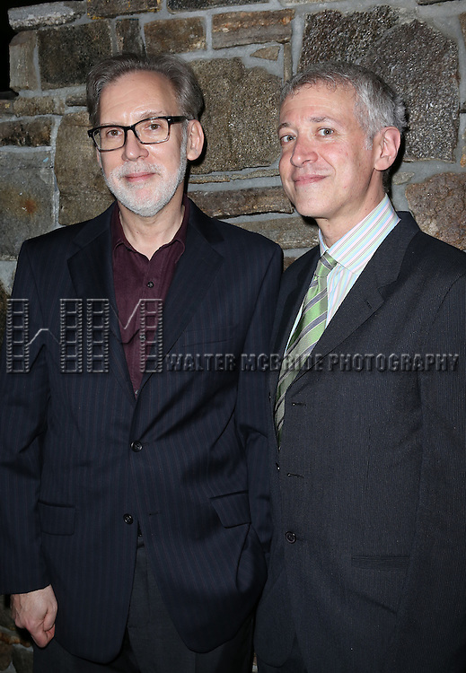 Michael Korie, Scott Frankel attending the Opening After Party for the Playwrights Horizons World Premiere production of the new musical 'FAR FROM HEAVEN' at Tir Na Nog Irish Pub & Grill  in New York City on June 02, 2013.