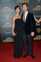 LOS ANGELES, CA. October 20, 2016: Benedict Cumberbatch &amp; Sophie Hunter at the world premiere of Marvel Studios' &quot;Doctor Strange&quot; at the El Capitan Theatre, Hollywood.<br /> Picture: Paul Smith/Featureflash/SilverHub 0208 004 5359/ 07711 972644 Editors@silverhubmedia.com