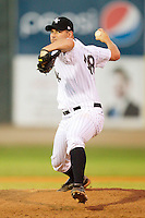 Brian Omogrosso #48 of the Bristol White Sox in action against the Pulaski Mariners at Boyce Cox Field August 28, 2010, in Bristol, Tennessee.  Photo by Brian Westerholt / Four Seam Images