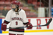 Bradley Fusco (Harvard - 9) - The visiting Boston College Eagles defeated the Harvard University Crimson 2-0 on Tuesday, January 19, 2016, at Bright-Landry Hockey Center in Boston, Massachusetts.