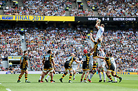Geoff Parling of Exeter Chiefs wins a lineout the Premiership Rugby Final at Twickenham Stadium on Saturday 27th May 2017 (Photo by Rob Munro)