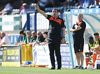 Blackpool manager Gary Bowyer issues instructions to his team from the dug-out <br /> <br /> Photographer Kevin Barnes/CameraSport<br /> <br /> The EFL Sky Bet League One - Wycombe Wanderers v Blackpool - Saturday 4th August 2018 - Adams Park - Wycombe<br /> <br /> World Copyright &copy; 2018 CameraSport. All rights reserved. 43 Linden Ave. Countesthorpe. Leicester. England. LE8 5PG - Tel: +44 (0) 116 277 4147 - admin@camerasport.com - www.camerasport.com