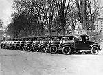 Waterbury Police Department cars, 1931.