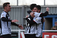 Padraig Amond of Grimsby Town celebrates scoring their first goal during the Vanarama National League match between Eastleigh and Grimsby Town at The Silverlake Stadium, Eastleigh, Hampshire on Nov 21, 2015. (Photo: Paul Paxford/PRiME)