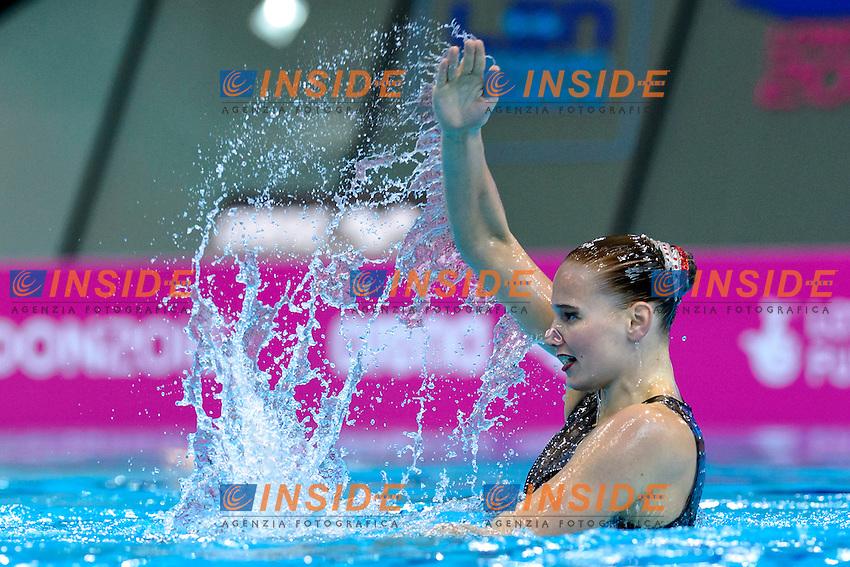 KRAUS Sascia SUI Switzerland <br /> Solo Free<br /> London, Queen Elizabeth II Olympic Park Pool <br /> LEN 2016 European Aquatics Elite Championships <br /> Synchronized Swimming  <br /> Day 01 09-05-2016<br /> Photo Andrea Staccioli/Deepbluemedia/Insidefoto
