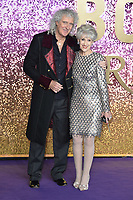 "Brian May and Anita Dobson<br /> arriving for the ""Bohemian Rhapsody"" World premiere at Wembley Arena, London<br /> <br /> ©Ash Knotek  D3455  23/10/2018"