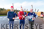 Members of the Killorglin Pipe Band entertaining the crowd at the Santa Fun Run on Sunday in the Tralee Bay Wetlands. Ger Baynham (Castlemaine), Eamonn Mulvihill (Killarney) and Tommy McGillicuddy (Killorglin)