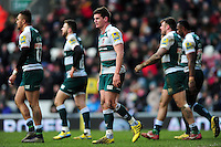 Freddie Burns of Leicester Tigers. Aviva Premiership match, between Leicester Tigers and Exeter Chiefs on March 6, 2016 at Welford Road in Leicester, England. Photo by: Patrick Khachfe / JMP