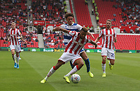 Stoke City's Jordan Cousins and Queens Park Rangers' Luke Amos <br /> <br /> Photographer Stephen White/CameraSport<br /> <br /> The EFL Sky Bet Championship - Stoke City v Queens Park Rangers - Saturday 3rd August 2019 - bet365 Stadium - Stoke-on-Trent<br /> <br /> World Copyright © 2019 CameraSport. All rights reserved. 43 Linden Ave. Countesthorpe. Leicester. England. LE8 5PG - Tel: +44 (0) 116 277 4147 - admin@camerasport.com - www.camerasport.com