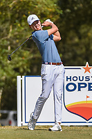 Brandon Wu (USA) watches his tee shot on 2 during round 4 of the 2019 Houston Open, Golf Club of Houston, Houston, Texas, USA. 10/13/2019.<br /> Picture Ken Murray / Golffile.ie<br /> <br /> All photo usage must carry mandatory copyright credit (© Golffile | Ken Murray)