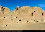 South Wall, Pueblo del Arroyo Chacoan Great House, Anasazi Hisatsinom Ancestral Pueblo Site, Chaco Culture National Historical Park, Chaco Canyon, Nageezi, New Mexico