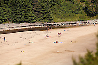 A sandy beach is pictured in Acadia National Park on Mount Desert Island in Maine Wednesday June 19, 2013. Created as Lafayette National Park in 1919 and renamed Acadia in 1929, the park includes mountains, an ocean shoreline, woodlands, and lakes.