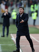 Football, Serie A: AS Roma - Torino, Olympic stadium, Rome, January 19, 2019. <br /> Torino's coach Walter Mazzarri speaks to his players during the Italian Serie A football match between AS Roma and Torino at Olympic stadium in Rome, on January 19, 2019.<br /> UPDATE IMAGES PRESS/Isabella Bonotto