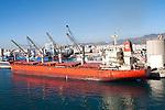 Cargo ship bulk carrier in the port of Malaga, Spain