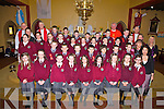 Pupils from Athea NS who were confirmed by Canon O'Shea in St Bartholomew's Church last Friday, pictured here with Fr Bowen, Canon Kelly, Fr McMahon, teachers Ms Lynch, Ms O'Connell, Ms Griffin and Ms Waters, principal.