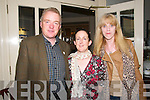 50th Birthday : Helen Heaslip, Abbeydiorney celebrating her 50th birthday at the Listowel Arms Hotel on Sunday last pictured with her husband Noel & her friend Hannah Cronin.
