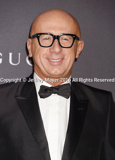 LOS ANGELES, CA - OCTOBER 29: Gucci President/CEO Marco Bizzarri attends the 2016 LACMA Art + Film Gala honoring Robert Irwin and Kathryn Bigelow presented by Gucci at LACMA on October 29, 2016 in Los Angeles, California.