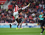 Kurt Zouma of Stoke City during the premier league match at the Britannia Stadium, Stoke. Picture date 19th August 2017. Picture credit should read: Robin Parker/Sportimage