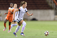 Houston, TX - Saturday July 08, 2017: Celeste Boureille brings the ball up the field during a regular season National Women's Soccer League (NWSL) match between the Houston Dash and the Portland Thorns FC at BBVA Compass Stadium.