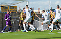 Morton's Mark McLaughlan (6) scores their first goal.
