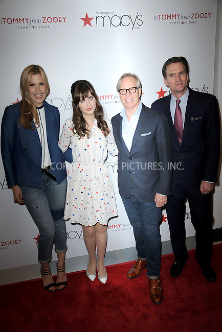 WWW.ACEPIXS.COM<br /> April 14, 2014 New York City<br /> <br /> Mary Alice Stephenson, Tommy Hilfiger, Zooey Deschanel and Jeffrey Gennette attending the To Tommy, From Zooey Collection Launch Macy's Herald Square on April 14, 2014 in New York City.<br /> <br /> Please byline: Kristin Callahan<br /> <br /> ACEPIXS.COM<br /> <br /> Tel: (212) 243 8787 or (646) 769 0430<br /> e-mail: info@acepixs.com<br /> web: http://www.acepixs.com