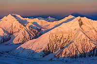 Mount Brooks (right) and mount mather (left), Alaska Range, Denali National Park, Interior, Alaska.