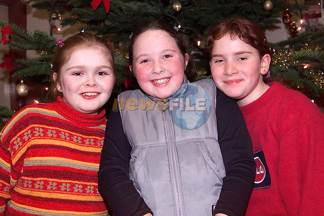 Vanessa Curtis, Pepperstown, Sarah Kerr, Shanlis Road and Alex Wragg, Pepperstown at the Christmas concert by Ardee Concert Band in the Bohemian centre, Ardee..Picture: Paul Mohan/Newsfile