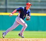 4 March 2010: Washington Nationals' third baseman Pete Orr takes infield warm-up drills prior to the Nationals-Astros Grapefruit League Opening game at Osceola County Stadium in Kissimmee, Florida. The Houston Astros defeated the Nationals split-squad 15-5 in Spring Training action. Mandatory Credit: Ed Wolfstein Photo