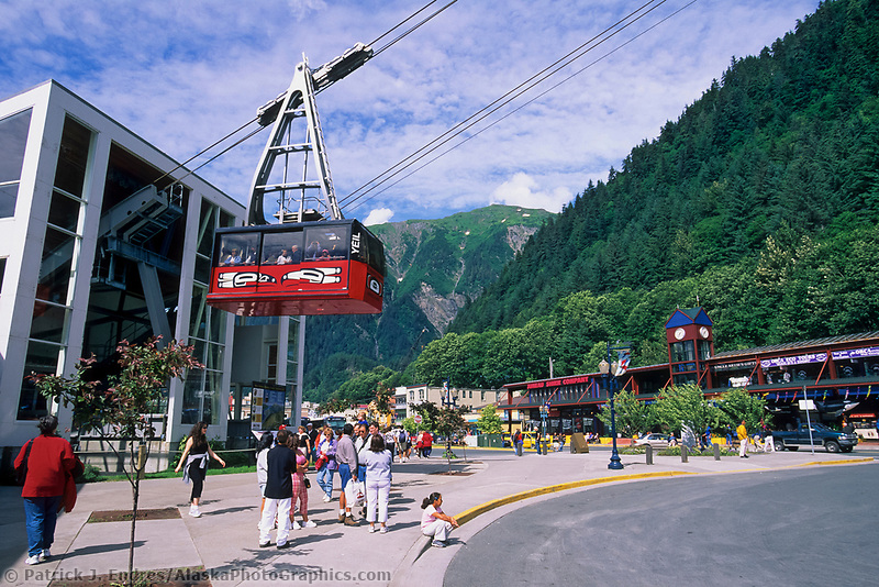 Mount Roberts Tram in downtown Juneau, Alaska, near the cruise ship dock.