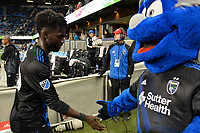 San Jose, CA - Saturday, March 11, 2017: Simon Dawkins, Q during a Major League Soccer (MLS) match between the San Jose Earthquakes and the Vancouver Whitecaps FC at Avaya Stadium.