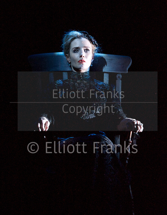 Beckett Trilogy <br /> at the Royal Court Theatre, London, Great Britain <br /> press photocall <br /> 10th January 2014 <br /> <br /> <br /> Not I<br /> Footfalls<br /> Rockaby<br /> <br /> by Samuel Beckett<br /> <br /> performed by Lisa Dwan <br /> <br /> directed by Walter Asmus<br /> <br /> Photograph by Elliott Franks