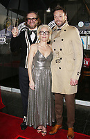 HOLLYWOOD, CA - JANUARY 8: Bryan Fuller, Gillian Anderson, Joel McHale, at Gillian Anderson Honored With Star On The Hollywood Walk Of Fame at On The Hollywood Walk Of Fame in Hollywood, California on January 8, 2018. <br /> CAP/MPI/FS<br /> &copy;FS/MPI/Capital Pictures