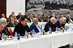 Palestinian President Mahmoud Abbas chairs the revolutionary council meeting of Fatah movement at the Palestinian Presidential Office in the West Bank city of Ramallah, on December 18, 2019. Photo by Thaer Ganaim